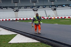After 5 days work the track completion is near