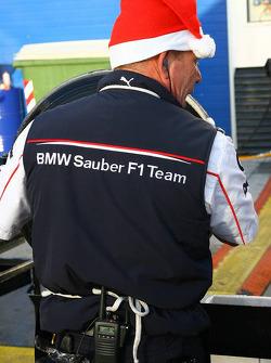 BMW Sauber F1 team members get into the festive spirit