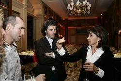 Gala night at Georges V hotel with Stéphane Peterhansel, Yvan Muller and Michèle Mouton