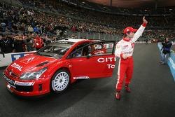 Sébastien Loeb with the new Citroën C4 WRC