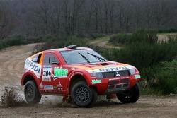 Team Repsol Mitsubishi Ralliart test in France: Nani Roma and Lucas Cruz Senra