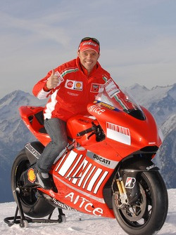 Loris Capirossi with the Ducati Desmosedici GP7