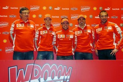 Press conference: Federico Minoli, Casey Stoner, Loris Capirossi, Vittoriano Guareschi and Livio Suppo