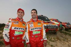 Stéphane Peterhansel and Luc Alphand