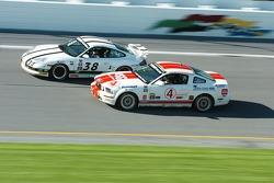 #38 BGB Motorsports Porsche 996: Jim Hamblin, Craig Stanton and #4 Blackforest Motorsports Mustang GT: ValÈrie Limoges, Alex Tagliani