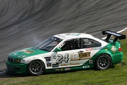 Spin for #24 Matt Connolly Motorsports BMW M3: Mike Pickett, Bill Cotter, Ray Mason