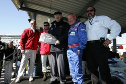 Legends induction ceremony: Bob Snodgrass with David Donohue, Hurley Haywood and Scott Sharp