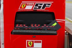 Scuderia Ferrari pitboard numbers and names box including Michael Schumacher