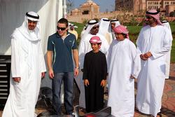 Sheikh Mohammed bin Zayed al Nahayan with Fernando Alonso