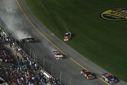 Denny Hamlin, Kasey Kahne and Elliott Sadler keep spinning out of control