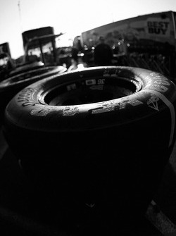 Detail of a Good Year tire