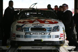 The AAA Ford at tech inspection