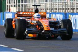 Markus Winkelhock, Test Driver, Spyker F1 Team, F8-VII, New Livery on the Spyker F1 Car