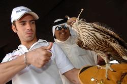 Marco Melandri visits the Qatar