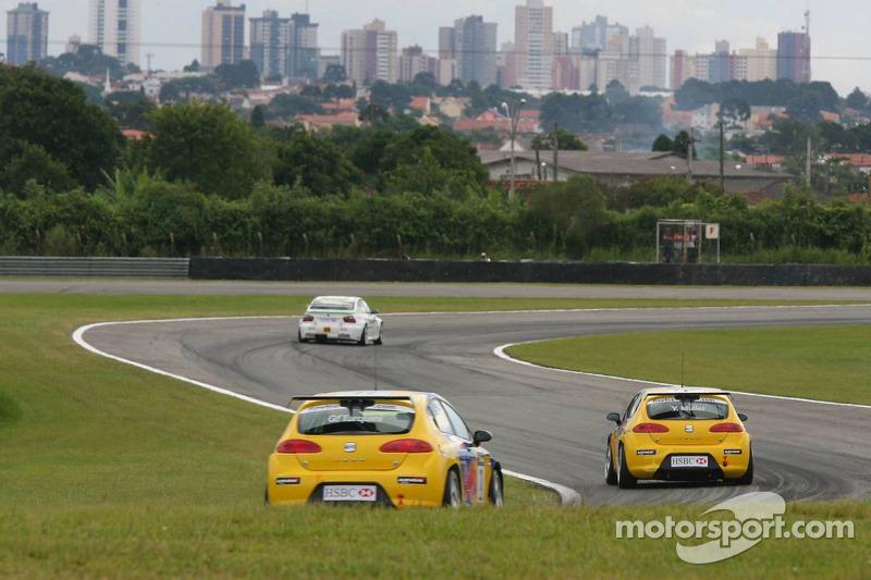Yvan Muller, SEAT Sport, Seat Leon et Gabriele Tarquini, SEAT Sport, SEAT Leon