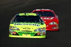 Jeff Gordon leads Dale Earnhardt Jr.