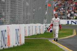 Rubens Barrichello, Honda Racing F1 Team, spun during the session