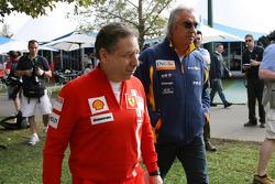 Jean Todt, Scuderia Ferrari, Ferrari CEO and Flavio Briatore, Renault F1 Team, Team Chief, Managing Director