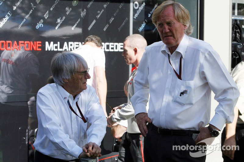 Bernie Ecclestone and Ron Walker, Australian Grand Prix Corporation Chairman
