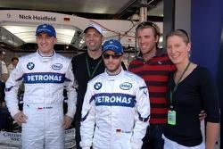 Robert Kubica,  BMW Sauber F1 Team, Nick Heidfeld, BMW Sauber F1 Team, Mark Warnecke, Thomas Rupprath, Annika Lurz, German swimmers