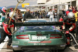 Aston Martin Racing Larbre pit area