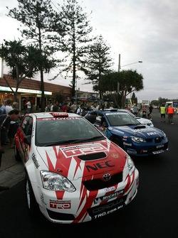 ARC Rally cars on display