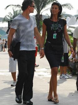David Coulthard with girlfriend Karen Minier