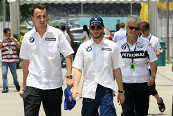 Robert Kubica and Nick Heidfeld, BMW Sauber F1 Team