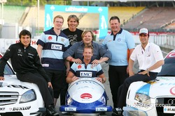 Bruno Spengler, Team HWA AMG Mercedes, Michael Machata, junior world champion in Bobsleight, Sven Hannawald, former Skijumper, Christoph Langen, former multiple world and olympic champion in Bobsleight, Wolfgang Hoppe, national coach Bobsleight, Lucas Luh