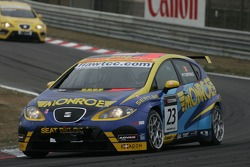 Pierre-Yves Corthals, SEAT Belgique and Monroe, SEAT Leon