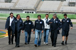 Track walk for Team Peugeot