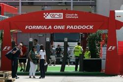 Formula 1 paddock entrance
