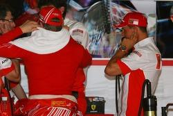 Michael Schumacher, Scuderia Ferrari, Advisor and Kimi Raikkonen, Scuderia Ferrari