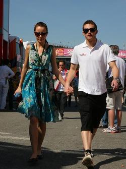 Scott Speed, Scuderia Toro Rosso with his girlfriend