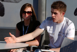 Paul di Resta, Persson Motorsport AMG Mercedes, AMG Mercedes C-Klasse and his girlfriend relaxing and enjoying the sun on the terrace of the Mercedes Benz hospitality