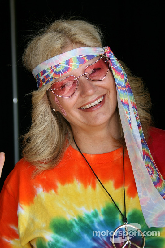 A groovy IMS employee dressed to set the mood on Throwback Day