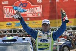 Podium: rally winner Marcus Gronholm