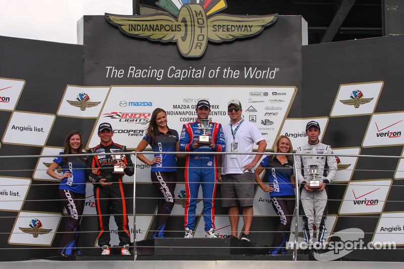 Podium: 1. Jack Harvey, Schmidt Peterson Motorsports, 2. Sean Rayhall, 8 Star Motorsports, und 3. Ed