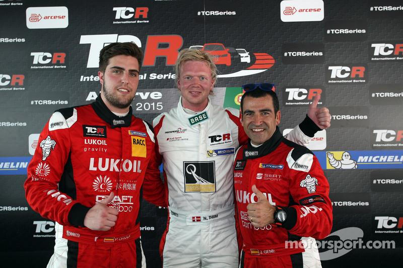 Нікі Тіім, Audi TT, Liqui Moly Team Engstler, поул позиція та 2-га позиція Хорді Жене, SEAT Leon, Craft Bamboo Racing LUKOIL