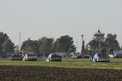 Nicolas Bonelli, Bonelli Competicion, Ford; Juan Martin Trucco, JMT Motorsport, Dodge; Martin Ponte, RUS Nero53 Racing, Dodge, und Federico Alonso, Taco Competicion, Torino