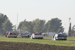Nicolas Bonelli, Bonelli Competicion, Ford; Juan Martin Trucco, JMT Motorsport, Dodge, und Martin Ponte, RUS Nero53 Racing, Dodge