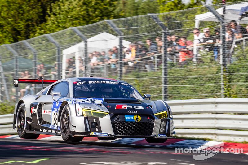 #28 Audi Sport Team WRT, Audi R8 LMS: Christopher Mies, Edward Sandström, Nico Müller, Laurens Vanth