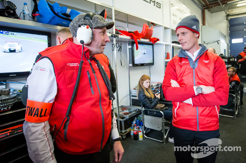 Audi Sport Team WRT, Teammanager Vincent Vosse und Edward Sandström