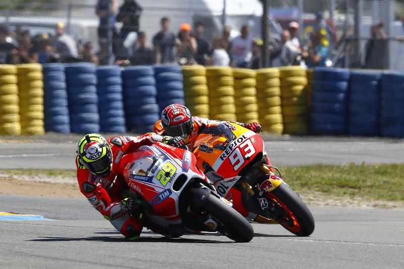 Andrea Iannone, Ducati Team et Marc Marquez, Repsol Honda Team