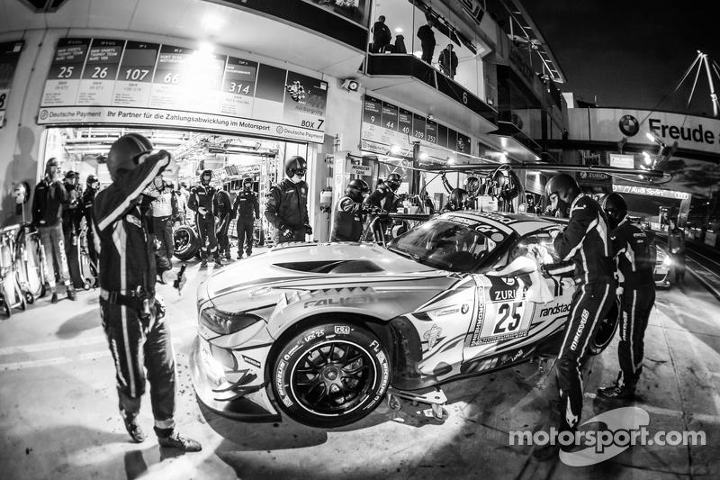 Boxenstopp für #25 Marc VDS Racing, BMW Z4 GT3: Maxime Martin, Lucas Luhr, Markus Palttala, Richard