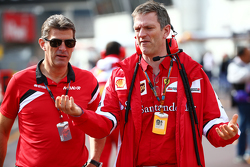 Graeme Lowdon, CEO de Manor F1 Team et James Allison, directeur technique châssis de Ferrari