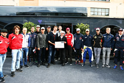 Bernie Ecclestone and Alex Wurz, Williams Driver Mentor and GPDA Chairman and Charles Bradley, Motorsport.com Editor in Chief and the drivers launch the GPDA Global Fans Survey