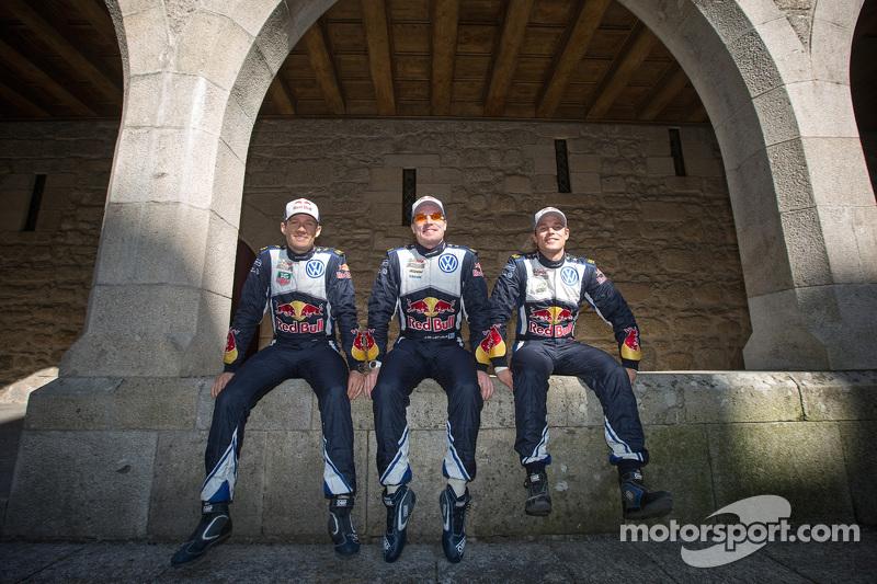 Sébastien Ogier, Jari-Matti Latvala, Andreas Mikkelsen, Volkswagen Motorsport