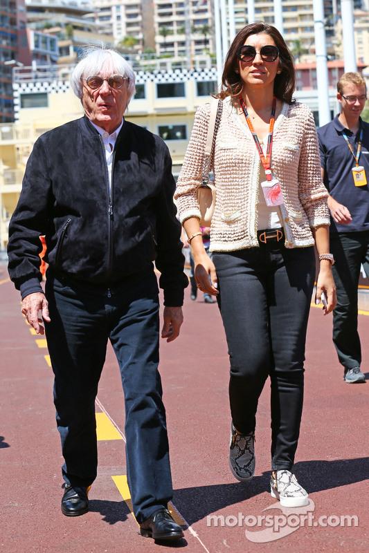 (Von links nach rechts): Bernie Ecclestone mit Fabiana Flosi
