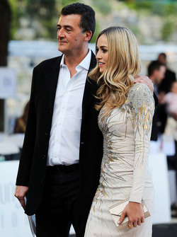 Carmen Jorda, Lotus F1 Team Development Driver with Federico Gastaldi, Lotus F1 Team Deputy Team Principal at the Amber Lounge Fashion Show